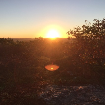Sunrise at Breakheart Reservation.